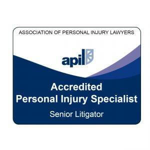 APIL - Association of Personal Injury Lawyers Accreditation Badge - Senior Litigator