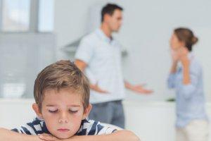 boy with parents arguing